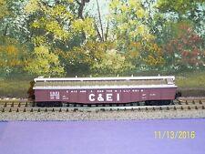 MICRO-TRAINS N SCALE #106030 50' STEEL SIDE 14 PANEL FIXED END GONDOLA C&EI #82