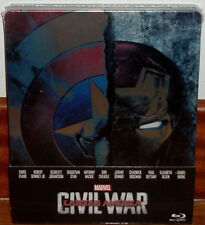 CAPTAIN AMERICA CIVIL WAR STEELBOOK BLU-RAY NEW SEALED (UNOPENED) R2