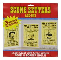 Western Wanted Posters Scene Setter Add-Ons Decorations Pack of 3 Cowboy Party