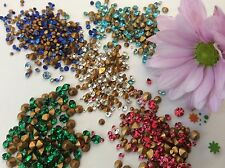 Vintage Rhinestones jewellery jewelery repair Brooch Craft 5 colours 300 Pack