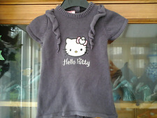 GIRLS HELLO KITTY KNITTED JUMPER  DRESS AGE 1M (NEW)