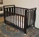 BW3 Sleigh Cot Drawer Change Table Mattress Pad Crib Baby Bed White Walnut Brown