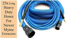 """Carpet Cleaning 25' Vacuum & Pressure Hoses for Mytee Extractors 1.5"""" Wand Cuff"""