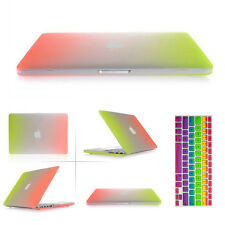 "Rubberized Hard Case for Macbook Air Pro Retina 11 12 13 15"" Inch+Keyboard Cover"
