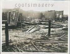 1934 Tornado Damaged House & Furniture Pensacola Florida Press Photo