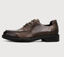 Mens Real Leather Shoes Dress Formal Business Work Office Lace up Oxfords Retro
