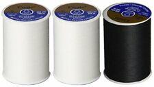 (3 Pack) Coats and Clark 2  white 1 Black all purpose thread 400 yard spool