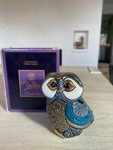 wDeRosa Rinconada Montevideo Family Collection F128 Ceramic Adult Blue Tawny Owl