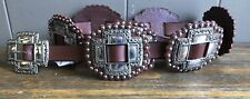 Beautiful Brown Roper Women's Cross Concho Belt, X Large, New With Tags!