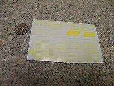 Herald King decals HO Louisville Nashville Dixie Line Hydra Cushion yellow XX134
