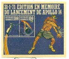 SPAZIO - SPACE GABON 1971 Apollo 14 block