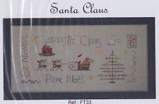 Santa Claus - fun Christmas cross stitch chart - Jardin Prive