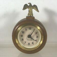 Vintage MERCEDES Desk Clock Brass Eagle Top