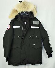 Canada Goose Men's Resolute Authentic L Large Snow Black Winter Coat (Relaxed)