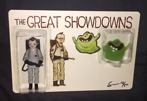 DKE TOYS GREAT SHOWDOWNS GHOSTBUSTERS BY SCOTT C EXCLUSIVE SDCC 2017 FIGURE GLOW