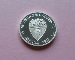 1978; CH Silber - Medaille Ag 900  FC Chiasso 1978 pp