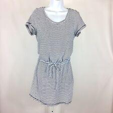 0f67bb04d459 Splendid Womens Dress Short Sleeve Tie Waist Size Medium White Striped