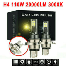 H4 LED Headlight Kits 110W 20000LM FOG Light Bulbs 3000K Driving DRL Lamp Yellow