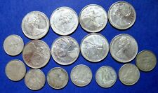 SILVER SCRAP 1968  ELIZABETH II Canada 25 & 10 CENT Silver  COINS LOT OF 16