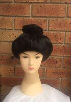 Geisha Wig With Chopstick Oriental Asian Japanese Costume Hair Accessory