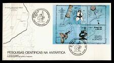 DR WHO 1988 BRAZIL ANTARCTIC S/S FDC C126840