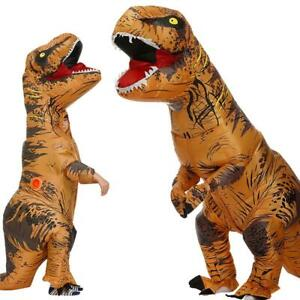 2 Size Halloween T-REX Inflatable Dinosaur Costume Jurassic Dress Blowup Outfit
