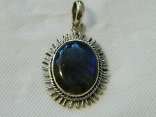 Exquisite Labradorite Cabachon Stone Presented in a Setting of .925 Silver