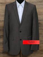 HUGO Hugo Boss Aikonen Men's Gray Wool Two-Button Blazer Sport Coat Jacket 38R