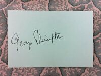 George Plimpton - The Paris Review - Author -  Autograph - Signed in 1974