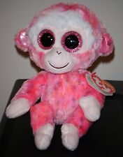 Ty Beanie Boos ~ RUBY the Pink Monkey (6 Inch) NEW - MINT with MINT TAGS