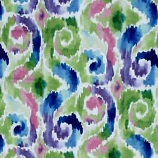 Drapery Fabric Ikat Moroccan Cream Lime Green Purple Magenta Navy Royal Blue