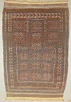 "Shabby chic Tribal Balouch Prayer Rug --  2'8"" x 4'0"" - Hand-Knotted & Hand Spun"