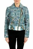 Just Cavalli Multi-Color Printed Full Zip Women's Basic Parka Jacket US S IT 40