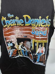 Vintage T Shirt - The Charlie Daniels Band Long Sleeve Baseball Style Size XL