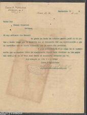 ANTIQUE LETTER / LUCAS. VALDIVIESO / HACIENDA DOLORES / PONCE PUERTO RICO 1909