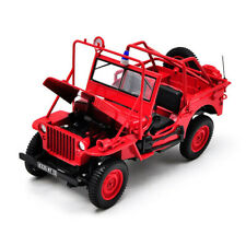 NOREV 1:18 SCALE JEEP WILLYS FIRE DEPARTMENT TRUCK DIECAST MODEL CARS