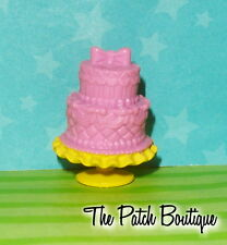 BARBIE EVER AFTER MONSTER HIGH DOLL SIZE PRETEND BAKERY FOOD PINK LAYERED CAKE