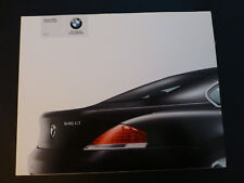BMW 645Ci  Coupe Sales Brochure 2003