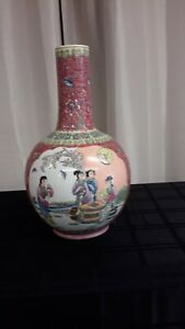 Vintage Chinese Famalie Rose poecelain vases(EC40)