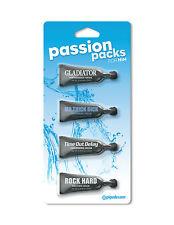 Passion Packs Para Él 4x10ml Dilatadores El Definitivo Hombre Sexual Experiencia
