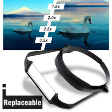 1.6x 2.0x 2.5x 3.5x Head Headband Replaceable Lens Loupe Magnifier Magnify