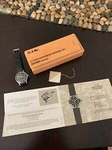 Vintage Glycine Combat Automatic Swiss Stainless Steel 1960s Good Condition!!