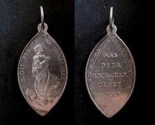 medalla religiosa antigua plata SAN GIL  medal religious silver