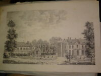 Ecole FRANCAISE DEBUT XIX GRAND DESSIN PAYSAGE ARCHITECTURE CHATEAU DRAWING 1810