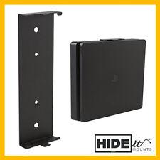 HIDEit 4S PlayStation 4 PS4 SLIM Wall Mount Bracket Display (Black) HIDE IT