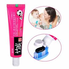 Lovely Kids Strawberry Toothpaste Bamboo Salt Anti-Dental Plaque 45g Toothpaste