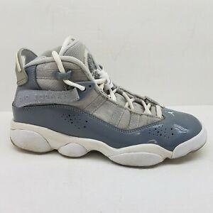 Nike Air Jordan GS 6 Rings Shoes Cool Grey 11 Retro 323419-015 4.5Y