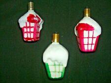 LOT O F3 VINTAGE CHRISTMAS LIGHT BULBS   STREET LAMPS  WORKING !!!