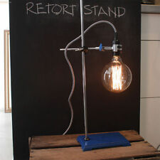 Blue Retort Stand base with 1 Clamp