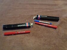 lot 2 NEW vintage SHEAFFER Red Miller High Life Beer Rolling Ball Pen Pens w/box